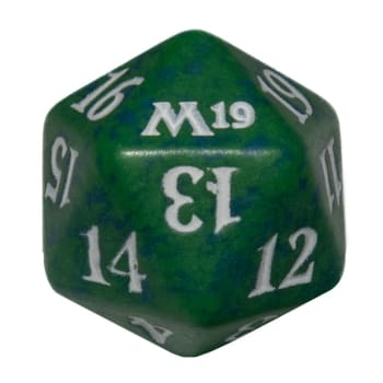 Core Set 2019 - D20 Spindown Life Counter - Green
