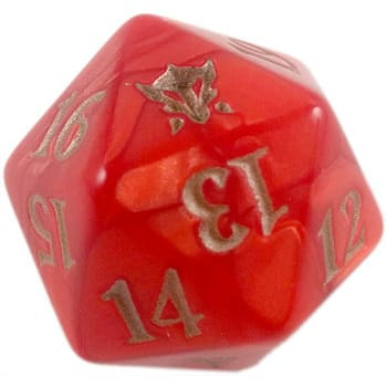 Dragons of Tarkir - Red - D20 Spindown Life Counter