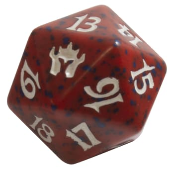 Fifth Dawn - D20 Spindown Life Counter - Red
