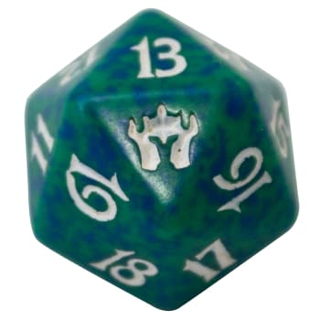 Fifth Dawn - D20 Spindown Life Counter - Green