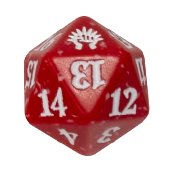 Boros - Guilds of Ravnica - D20 Spindown Life Counter - Red w/white
