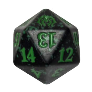 Golgari - Guilds of Ravnica - D20 Spindown Life Counter - Green w/black
