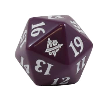 Khans of Tarkir - D20 Spindown Life Counter - Purple