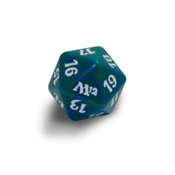 Magic 2012 - D20 Spindown Life Counter - Green