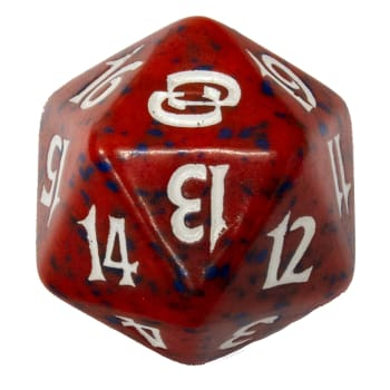 Planar Chaos - D20 Spindown Life Counter - Red