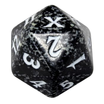 Tenth Edition - D20 Spindown Life Counter - Black