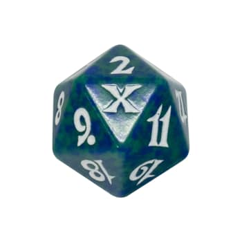 Tenth Edition - D20 Spindown Life Counter - Green