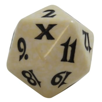 Tenth Edition - D20 Spindown Life Counter - White