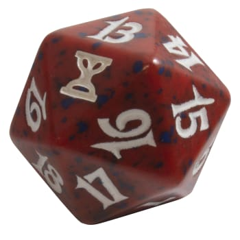 Time Spiral - D20 Spindown Life Counter - Red