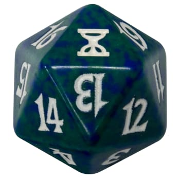 Time Spiral - D20 Spindown Life Counter - Green