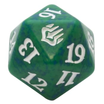 War of the Spark - D20 Spindown Life Counter - Green