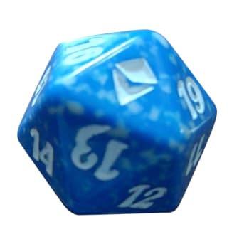 Zendikar - D20 Spindown Life Counter - Blue