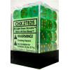 12mm d6 Dice Block: Borealis Light Green w/Gold Thumb Nail