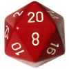 34mm d20: Opaque Red w/White Thumb Nail