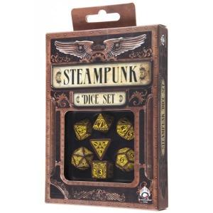 Poly 7 Dice Set: Steampunk - Brown/Yellow