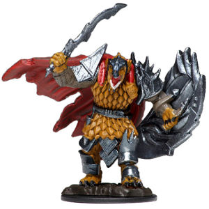 D&D Fantasy Miniatures: Icons of the Realms: Premium Figure - Dragonborn  Male Fighter