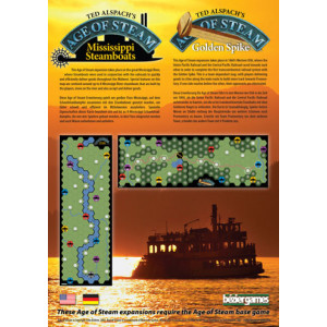 Age of Steam Expansion: Mississippi Steamboats & Golden Spike