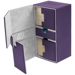 Ultimate Guard - Twin Flip'n'Tray Deck Case - XenoSkin Standard 200+ Purple