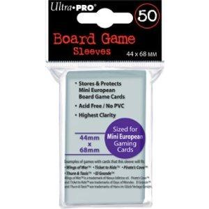Mini European Board Game Sleeves (50ct) 44mm x 68mm (Ultra Pro)