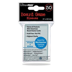 Mini American Board Game Sleeves (50ct) 41mm x 63mm (Ultra Pro)