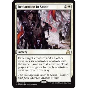 Declaration in Stone