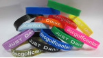 Wristband (Silicone Rubber Wristband, Just Drive Logo)