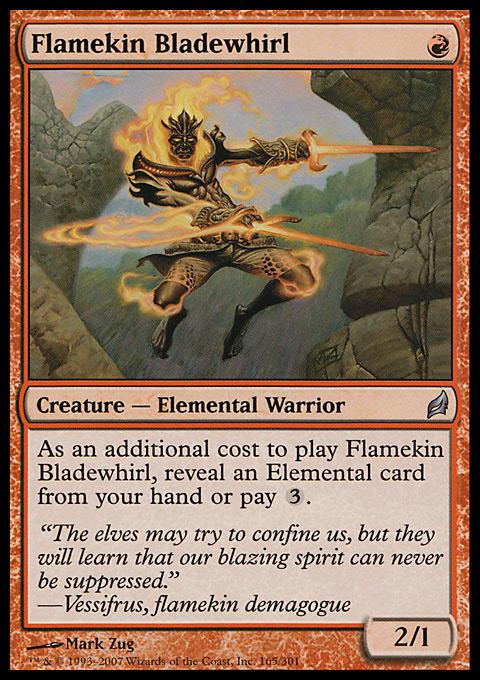 Red Uncommon Magic Card LOR Lorwyn MTG: Flamekin Harbinger