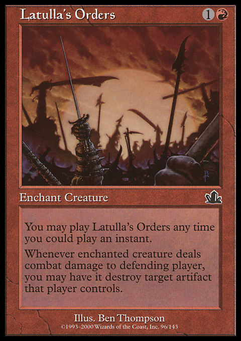 Latulla's Orders