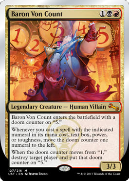Unstable Sums: Baron Von Count in Commander | Article by