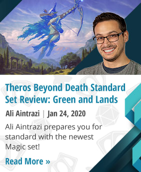 Theros Beyond Death Standard Set Review: Green and Lands by Ali Aintrazi