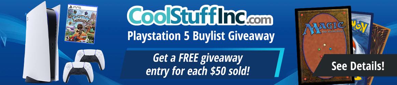CoolstuffInc.com PlayStation 5 Buylist Giveaway