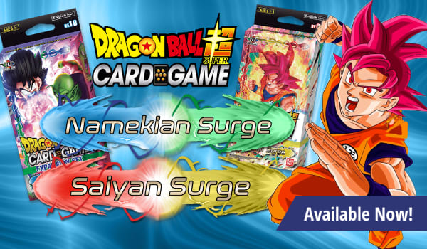 Namekian and Saiyan Surge available now