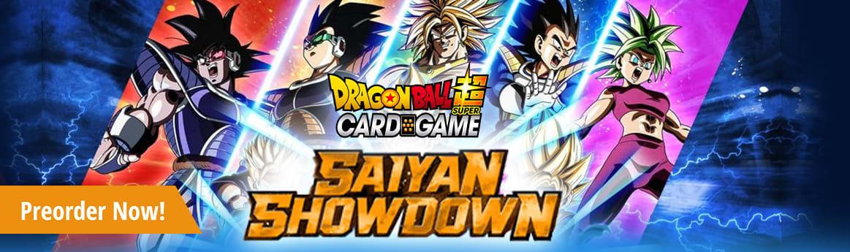 Dragon Ball Super TCG Saiyan Showdown available now!