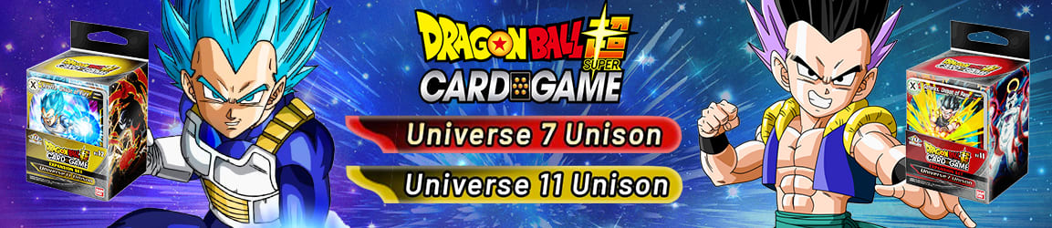 Dragon Ball Super - Expansion Set Universe 7 Unison and Universe 11 Unison
