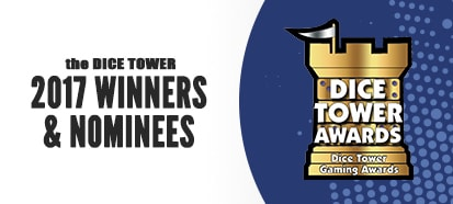 Dice Tower 2017 Winners and Nominees