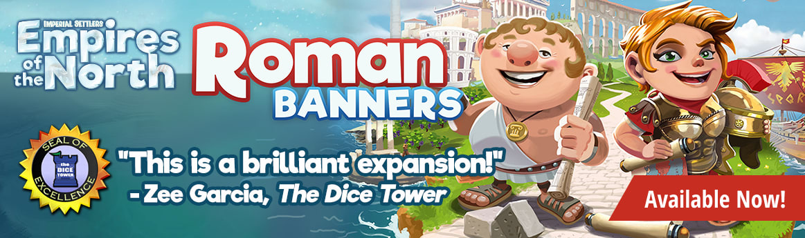 Imperial Settlers Empires of the North Roman Banners Expansion available now