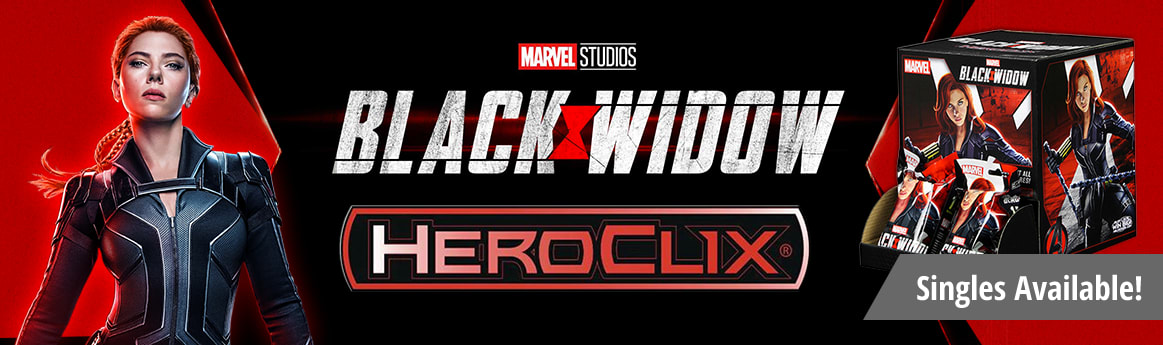 Marvel HeroClix Black Widow Movie singles available now!