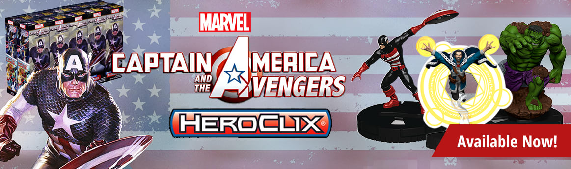 Marvel HeroClix Captain America and the Avengers available now