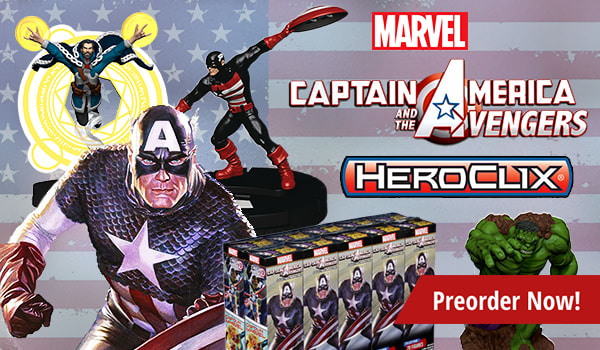 Marvel HeroClix: Captain America and the Avengers, Preorder Now!