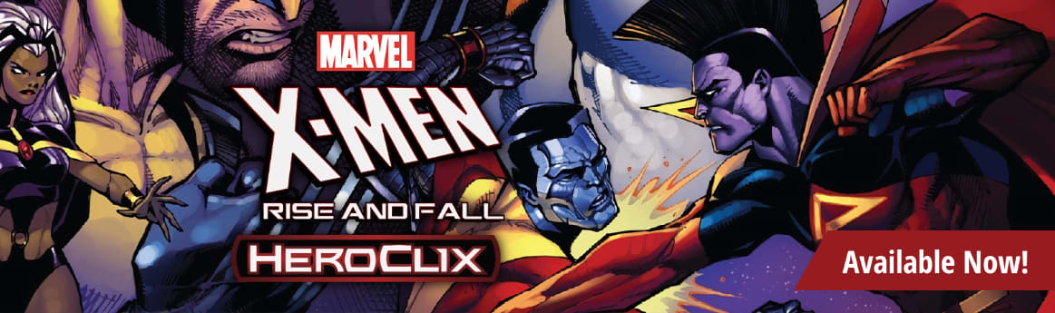 Marvel HeroClix X-Men Rise and Fall available now!
