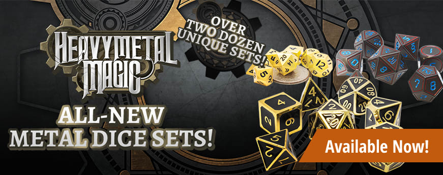 Heavy Metal Magic - Metal Dice Sets