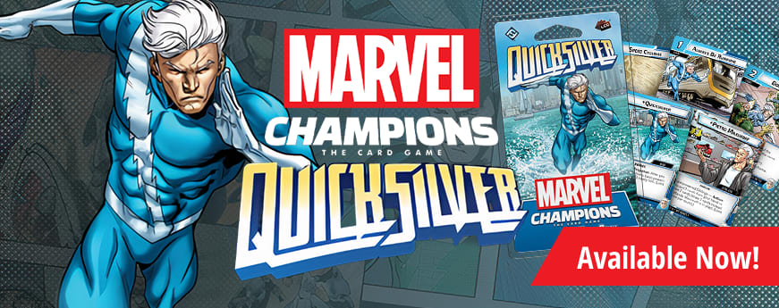 Marvel Champions Quicksilver Hero Pack available now!