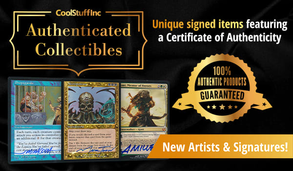 Authenticated Collectibles - New Products Added