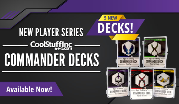 New Player Commander Decks available now