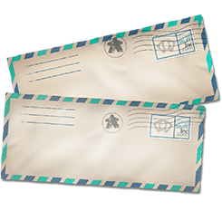 Two white mail envelopes