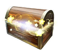 Open glowing treasure chest