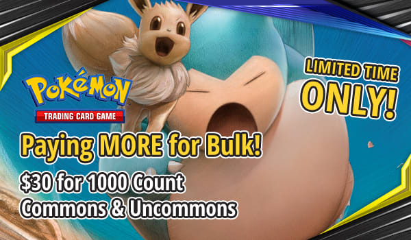 Now Paying $30 for Pokemon 1000 Count Common and Uncommon
