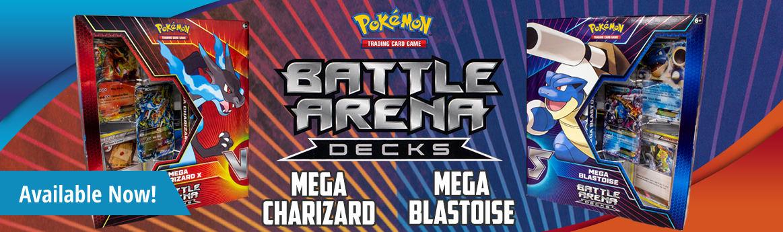 Battle Arena Decks: Mega Blastoise & Mega Charizard X