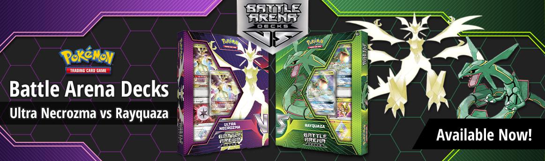 Battle Arena Decks: Ultra Necrozma vs Rayquaza available now