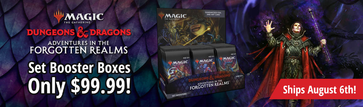 Preorder Magic: The Gathering Forgotten Realms Set Booster Boxes for only $99.99! Ends 8/6/21!